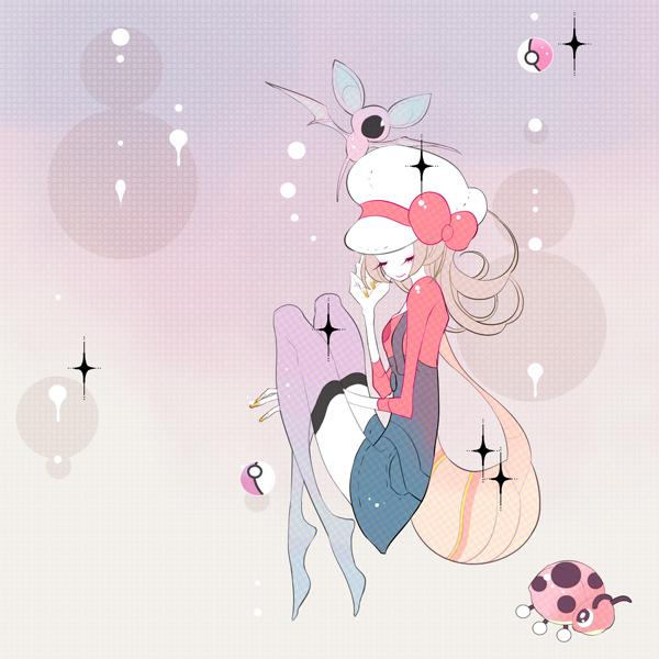 Tags: Anime, Pixiv Id 169077, Pokémon Gold & Silver, Pokémon, Zubat, Ledyba, Kotone (Pokémon), Cabbie Hat, Fanart From Pixiv, Pixiv, Fanart