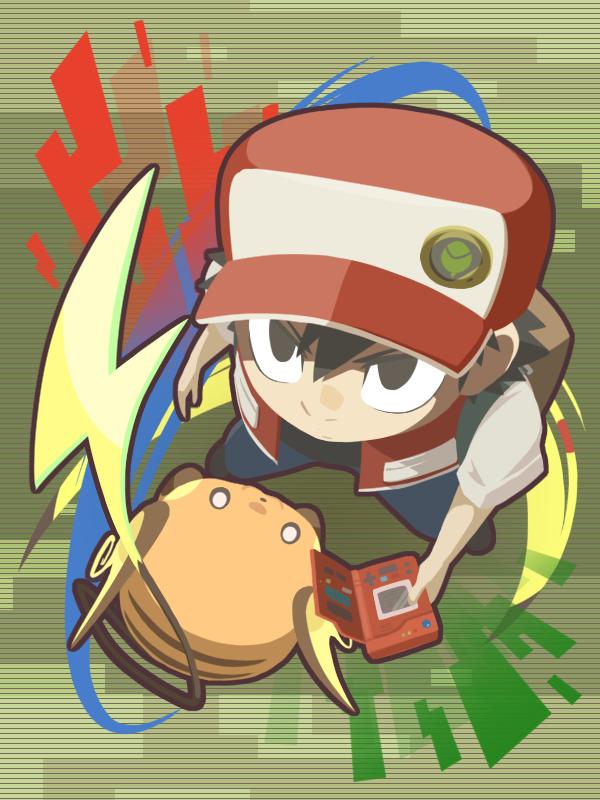 Tags: Anime, Pixiv Id 3414789, Pokémon Red & Green, Pokémon, Raichu, Red (Pokémon), Wallpaper, Fanart, Pixiv, Fanart From Pixiv