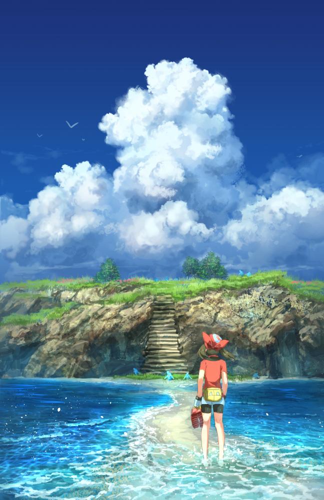 Tags: Anime, Pixiv Id 1922055, Pokémon Ruby & Sapphire, Pokémon, Wynaut, Haruka (Pokémon), Fanart From Pixiv, Fanart, Pixiv