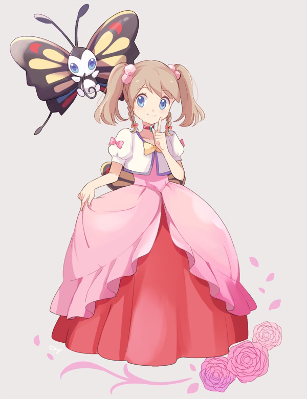 Tags: Anime, May (Pixiv Id 233774), Pokémon (Anime), Pokémon Ruby & Sapphire, Pokémon, Beautifly, Haruka (Pokémon)