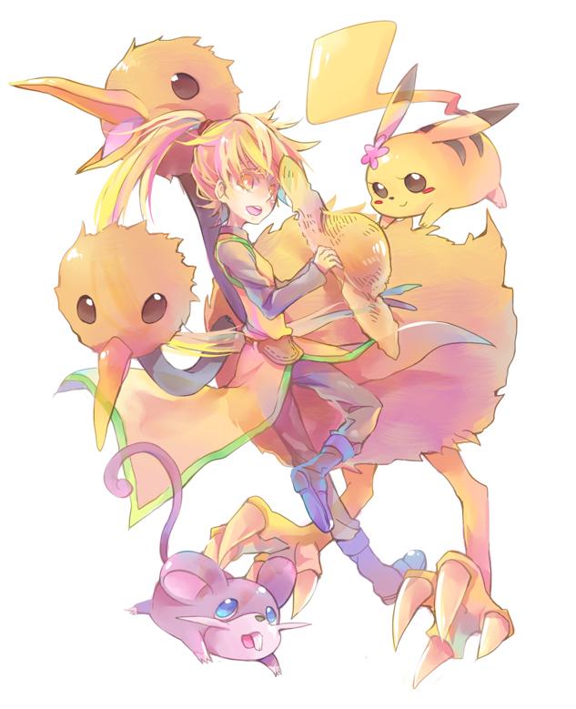 Tags: Anime, Pixiv Id 842378, Pokémon SPECIAL, Pokémon, Pikachu, Dodrio, Dodosuke, Rattata, Rattchan, Doduo, Chuchu (Pokémon), Yellow (Pokémon Special), Pokémon Adventures