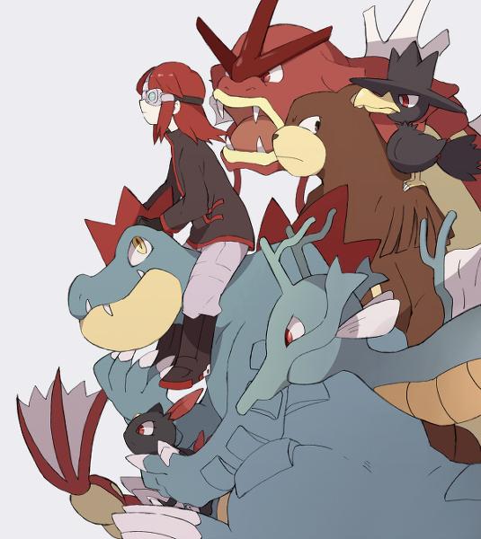 Tags: Anime, Otoufu (Nenne), Pokémon SPECIAL, Pokémon, Sneasel, Gyarados, Silver (Pokémon SPECIAL), Murkrow, Ursaring, Feraligatr, Kingdra, Pixiv, Shiny Pokémon, Pokémon Adventures