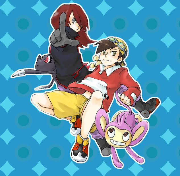 Tags: Anime, Pokémon SPECIAL, Pokémon, Sneasel, Aipom, Silver (Pokémon SPECIAL), Gold (Pokémon SPECIAL), Artist Request, GoSil, Pokémon Adventures