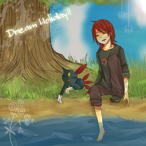Tags: Anime, Pokémon SPECIAL, Pokémon, Sneasel, Silver (Pokémon SPECIAL), Soaking Feet, Artist Request, Fanart, Pixiv, Fanart From Pixiv, Pokémon Adventures