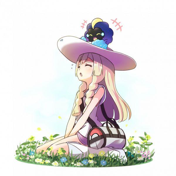 Tags: Anime, Sikei, Pokémon Sun & Moon, Pokémon, Cosmog, Lillie (Pokémon), Sun Hat
