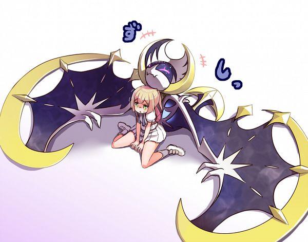 Tags: Anime, Sikei, Pokémon Sun & Moon, Pokémon, Lunala, Lillie (Pokémon), Wariza