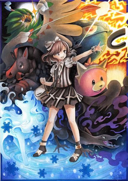 Tags: Anime, Mosho, Pokémon Sun & Moon, Pokémon, Decidueye, Mudsdale, Magnezone