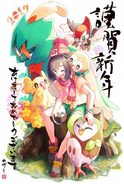 Tags: Anime, Pixiv Id 695792, Pokémon Sun & Moon, Pokémon, Female Protagonist (Pokémon Sun/Moon), Decidueye, Rowlet