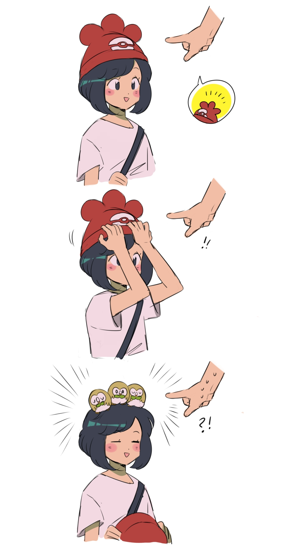 6ac6e4bb21ba3 In Pokemon Sun, I loved the female trainer! Only cause she looked like she  had a glove world hat on lol.