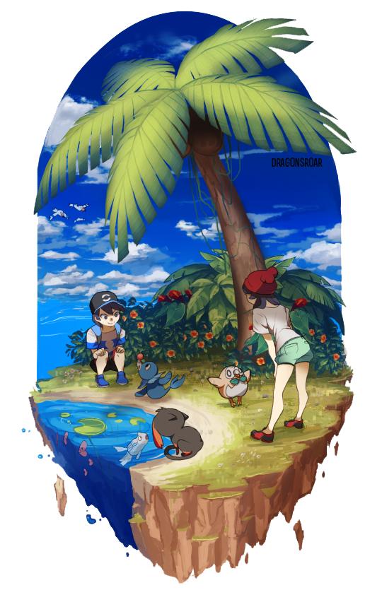 Tags: Anime, Dragons-Roar, Pokémon Sun & Moon, Pokémon, Remoraid, Litten, Wingull, Rowlet, Luvdisc, You (Pokémon), Mizuki (Pokémon), Popplio, Seal (Animal)