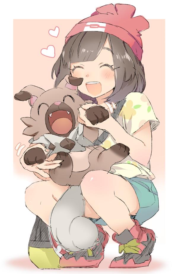 Tags: Anime, Pixiv Id 17895, Pokémon Sun & Moon, Pokémon, Rockruff, Mizuki (Pokémon), Pixiv, Fanart, Fanart From Pixiv, Mobile Wallpaper, PNG Conversion