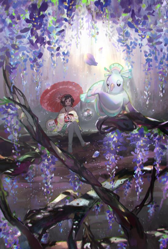 Tags: Anime, Namie-kun, Pokémon Sun & Moon, Pokémon, Minior, Oricorio, Female Protagonist (Pokémon Sun/Moon)