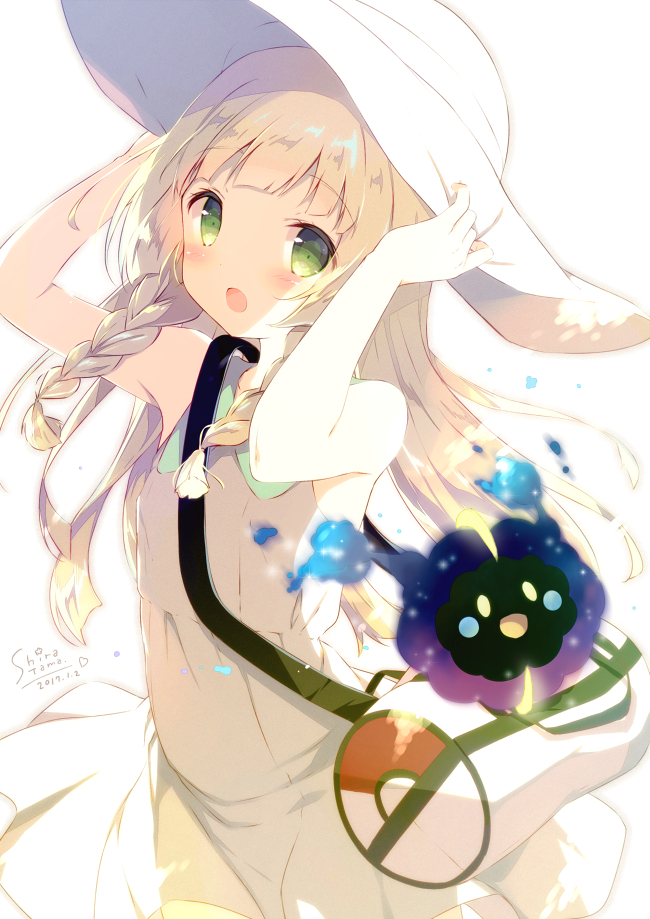 Tags: Anime, Shiratama Dango, Pokémon Sun & Moon, Pokémon, Cosmog, Lillie (Pokémon), Sleeveless Dress