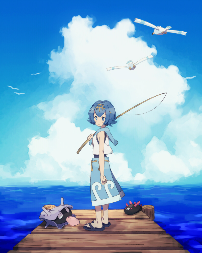 Pok mon sun moon image 2117803 zerochan anime image board for Fishing rod pokemon moon