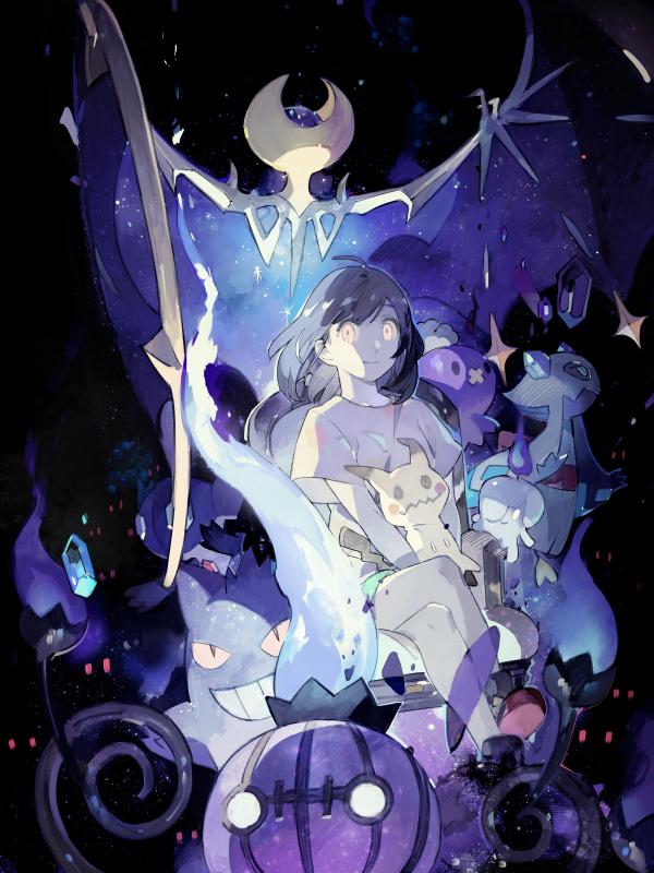 Tags: Anime, STAR Shadow Magician, Pokémon Sun & Moon, Pokémon, Chandelure, Gengar, Mizuki (Pokémon), Litwick, Sableye, Froslass, Mimikyu, Drifloon, Lunala