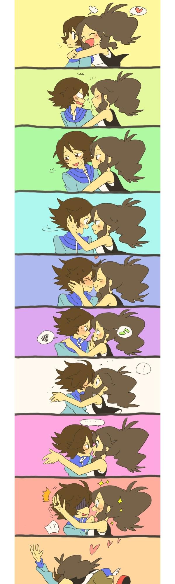 Tags anime pok 233 mon touya pok 233 mon touko pok 233 mon kiss on the