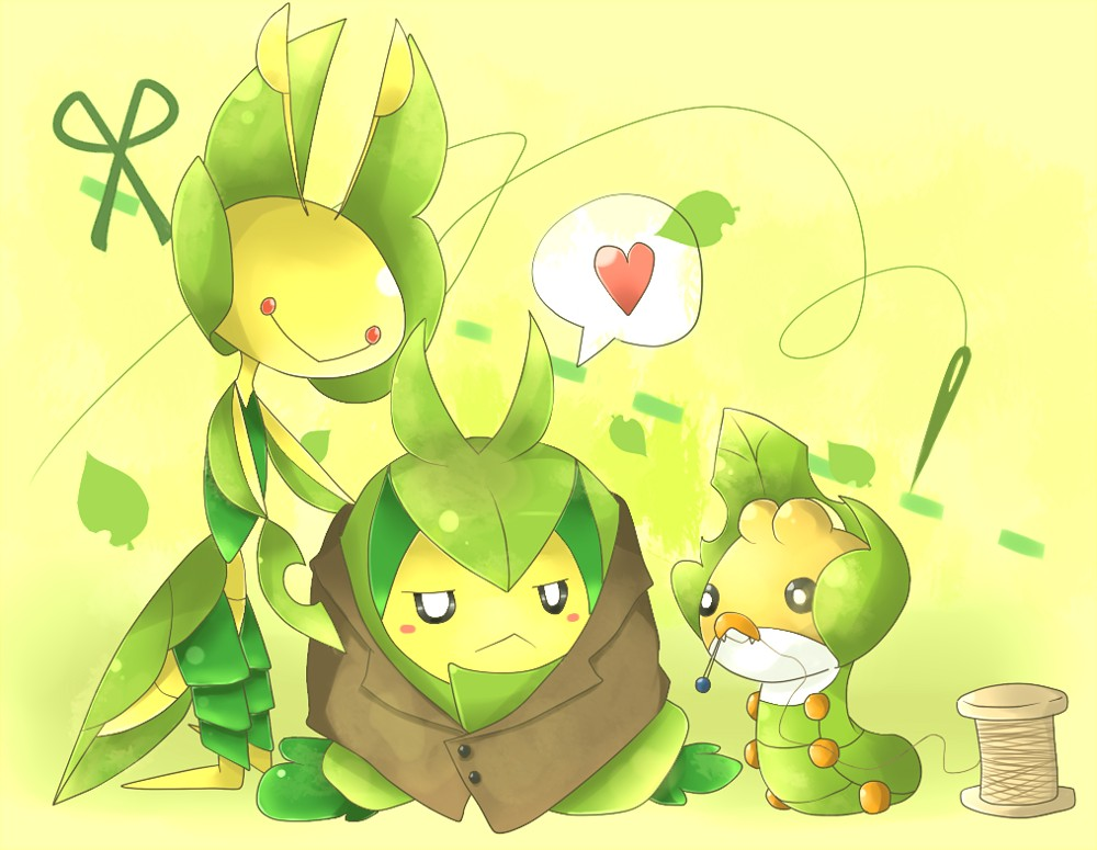 Id 548662  Pok  233 mon  Swadloon  Sewaddle  Leavanny  Evolution FamilySewaddle Pokemon Evolution