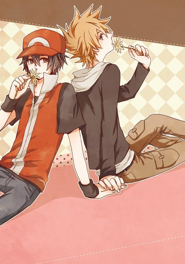 Tags: Anime, K (Mangaka), Pokémon Red & Green, Pokémon, Green (Pokémon), Red (Pokémon), Mobile Wallpaper, ReGre