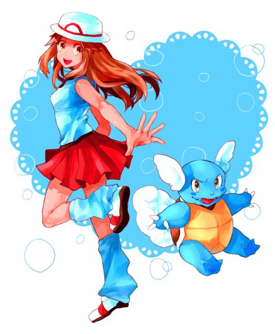 Tags: Anime, Dada, Pokémon, Leaf (Pokémon), Wartortle, Fanart