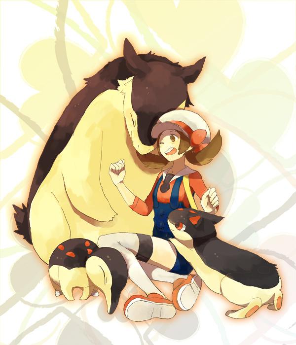 Tags: Anime, Pokémon, Typhlosion, Kotone (Pokémon), Cyndaquil, Quilava