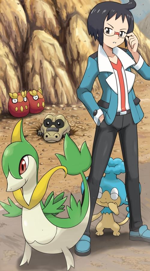 Tags: Anime, Soara, Pokémon, Cheren (Pokémon), Servine, Sandile, Darumaka, Krokorok, Panpour