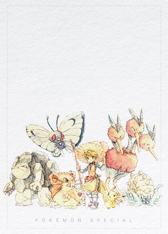 Tags: Anime, Ayaori (Merry Widow), Pokémon SPECIAL, Pokémon, Rattchan, Dodrio, Piisuke (Pokémon), Rattata, Chuchu (Pokémon), Butterfree, Golem (Pokémon), Yellow (Pokémon Special), Dodosuke