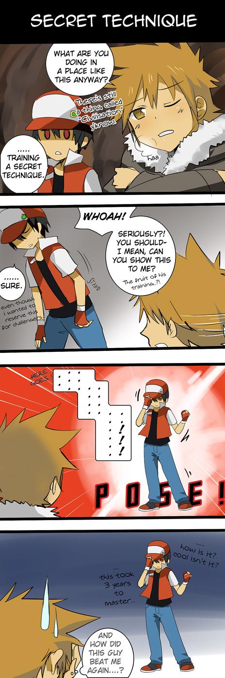 Tags: Anime, Meru-chan, Pokémon, Red (Pokémon), Green (Pokémon), deviantART, Comic