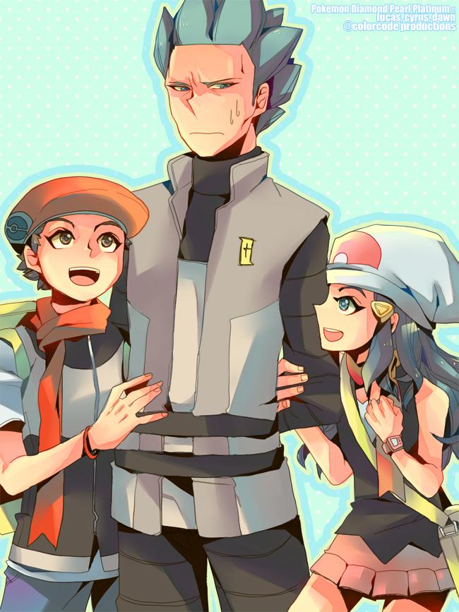 Tags: Anime, Pixiv Id 2115732, Pokémon, Kouki (Pokémon), Hikari (Pokémon), Akagi (Pokémon), Fanart From Pixiv, Fanart, Pixiv