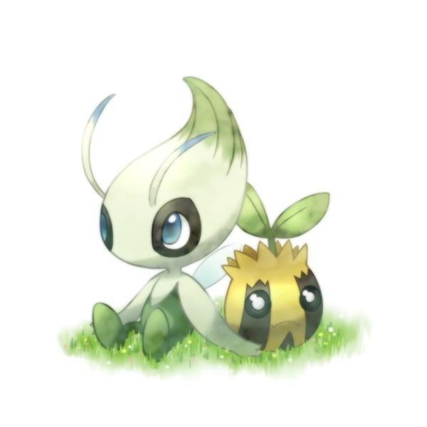 Tags: Anime, Hitsubaru, Pokémon, Celebi, Sunkern, Legendary Pokémon, Fanart, Fanart From Pixiv, Pixiv