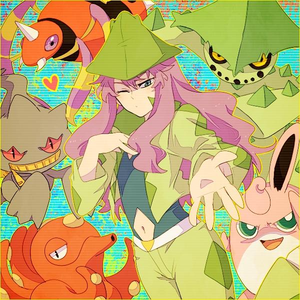 Tags: Anime, Akasata, Pokémon, Cacturne, Harley (Pokémon), Wigglytuff, Octillery, Banette, Ariados, Cacturne (Cosplay), Fanart, Fanart From Pixiv, Pixiv