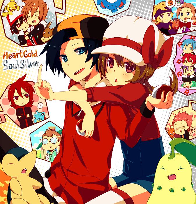 Tags: Anime, Shiuka (Shiupiku), Pokémon, Chikorita, Dragonite, Apollo (Pokémon), Silver (Pokémon), Lance (Pokémon), Eevee, Green (Pokémon), Athena (Pokémon), Kotone (Pokémon), Minaki (Pokémon)