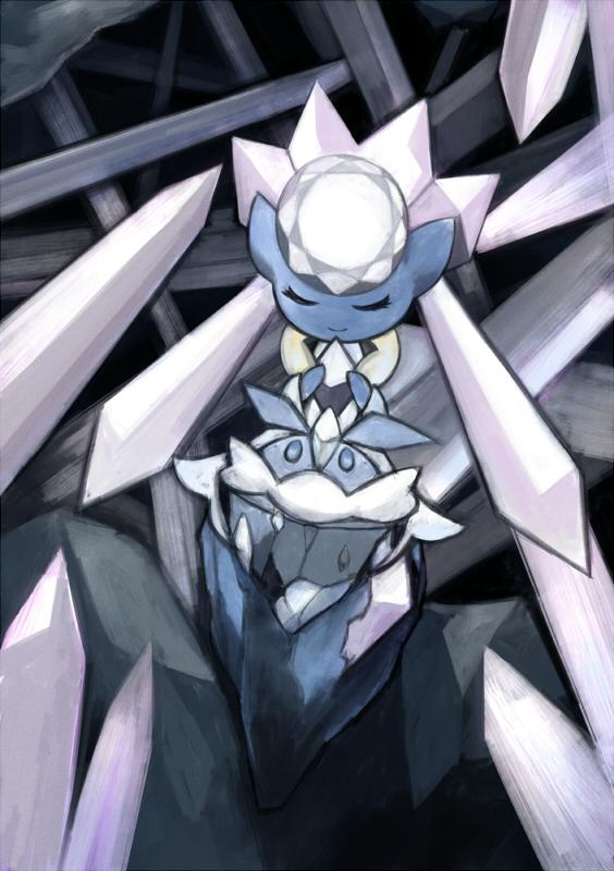 Tags: Anime, Pixiv Id 6360931, Pokémon, Carbink, Diancie, Fanart, Fanart From Pixiv, Legendary Pokémon, Pixiv