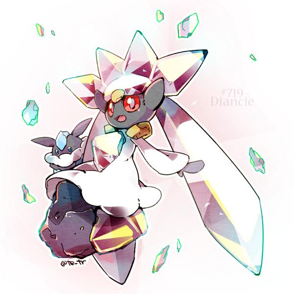 Tags: Anime, Pixiv Id 836974, Pokémon, Diancie, Carbink, Fanart, Fanart From Pixiv, Legendary Pokémon, Pixiv