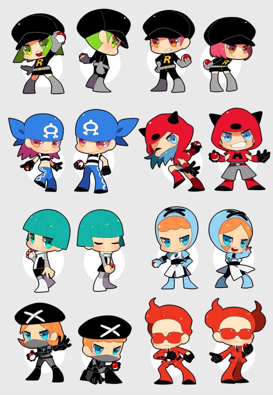 Tags: Anime, Onuko (Pixiv1861313), Pokémon, Flare-dan Shitappa (Male), Plasma-dan Shitappa (Male), Team Rocket Underling (Female), Team Galactic Underling (Female), Plasma-dan Shitappa (Female), Team Rocket Underling (Male), Team Aqua Underling (Male), Flare-dan Shitappa (Female), Team Aqua Underling (Female), Team Magma Underling