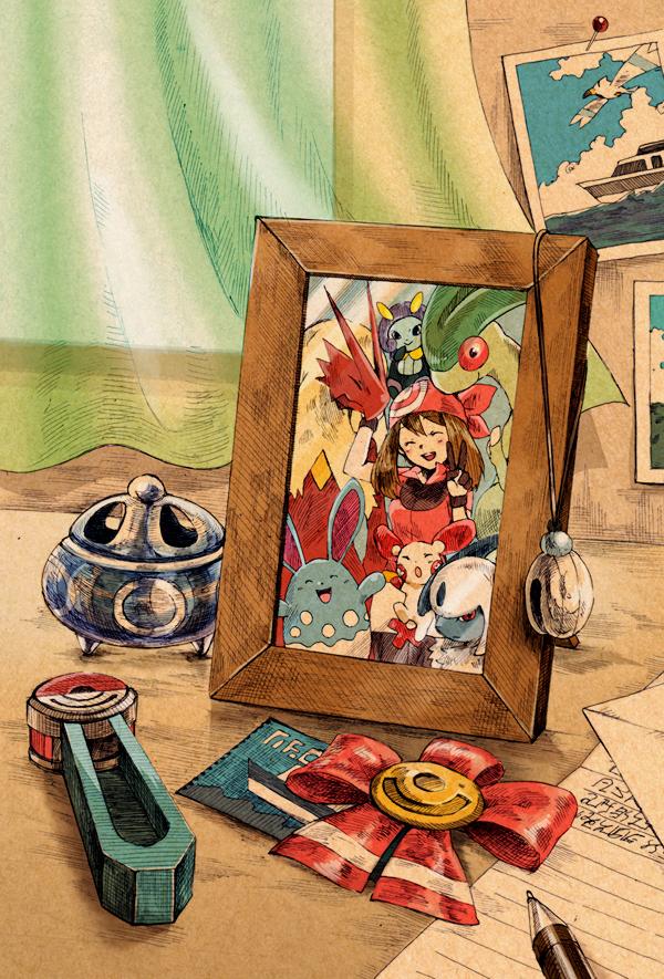 Tags: Anime, Pixiv Id 5341582, Pokémon, Flygon, Illumise, Azumarill, Plusle, Haruka (Pokémon), Blaziken, Absol, Fanart From Pixiv, Fanart, Mobile Wallpaper