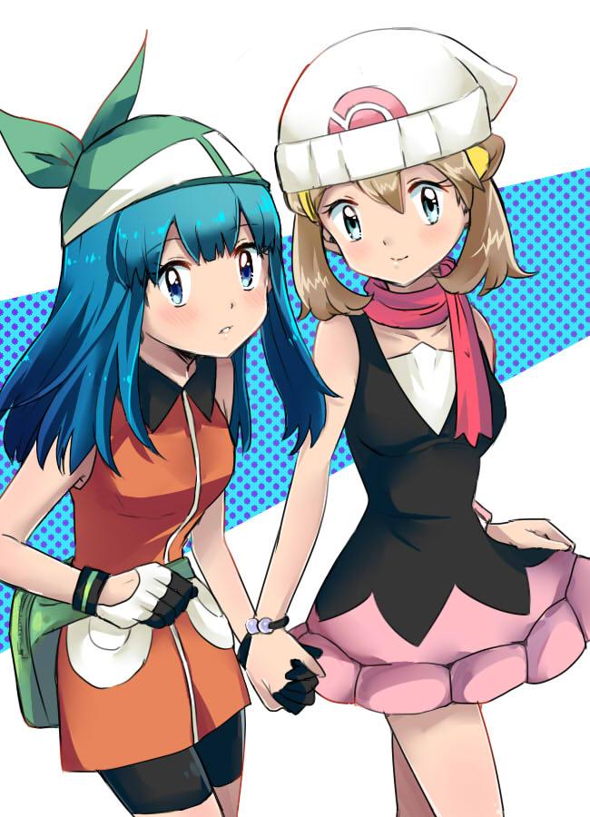 Tags: Anime, Pixiv Id 2431309, Pokémon, Haruka (Pokémon), Hikari (Pokémon), Haruka (Pokémon) (Cosplay), Bike Shorts, Pokémon (Cosplay), Hikari (Pokémon) (Cosplay), Pixiv, Fanart From Pixiv, Fanart, HaruHika