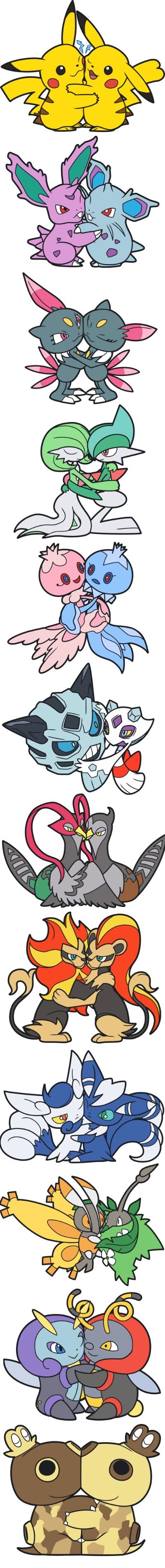 Tags: Anime, Pokémon, Mothim, Nidoran, Pikachu, Illumise, Gallade, Volbeat, Hippopotas, Gardevoir, Unfezant, Glalie, Meowstic