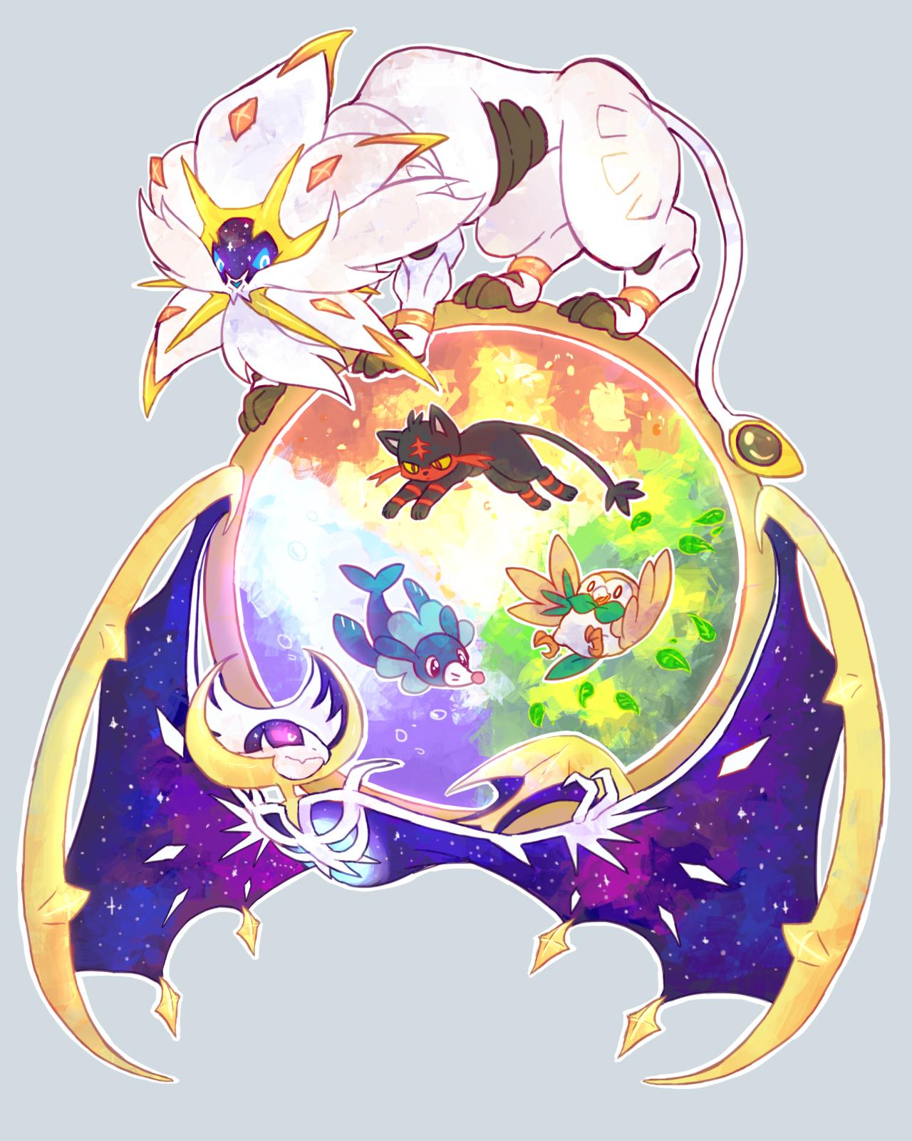 Lunala Pok 233 Mon Zerochan Anime Image Board