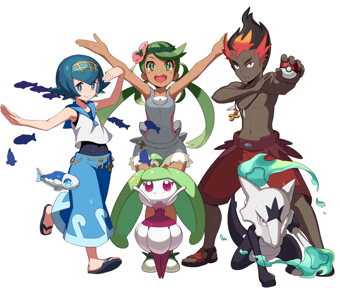 Tags Anime Pixiv Id 3239663 Pokemon Wishiwashi Marowak Kaki Mao Pokemon Pokemon Heroes Pokemon Moon Pokemon Alola