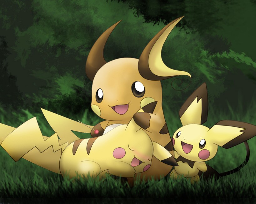 Pokémon Raichu Pikachu