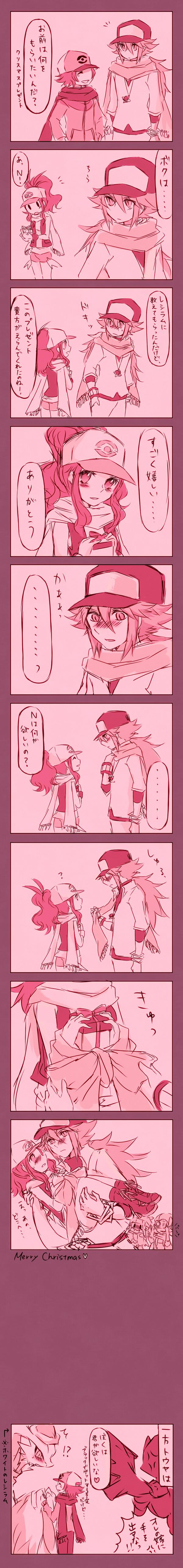 Tags: Anime, Kabocha Torute, Pokémon Black & White, Pokémon Diamond & Pearl, Pokémon Gold & Silver, Pokémon, Kotone (Pokémon), N (Pokémon), Hikari (Pokémon), Touya (Pokémon), Zekrom, Reshiram, Touko (Pokémon)