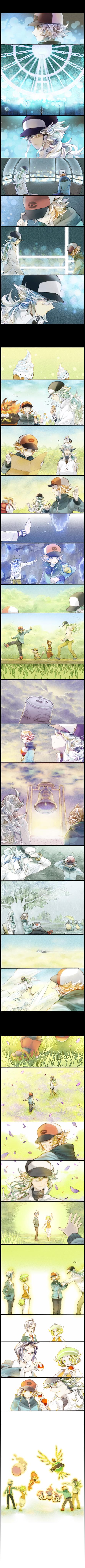 Tags: Anime, Yuuichi-87, Pokémon, Reshiram, Pansear, N (Pokémon), Palpitoad, Chandelure, Musharna, Sigilyph, Patrat, Pidove, Bel (Pokémon)