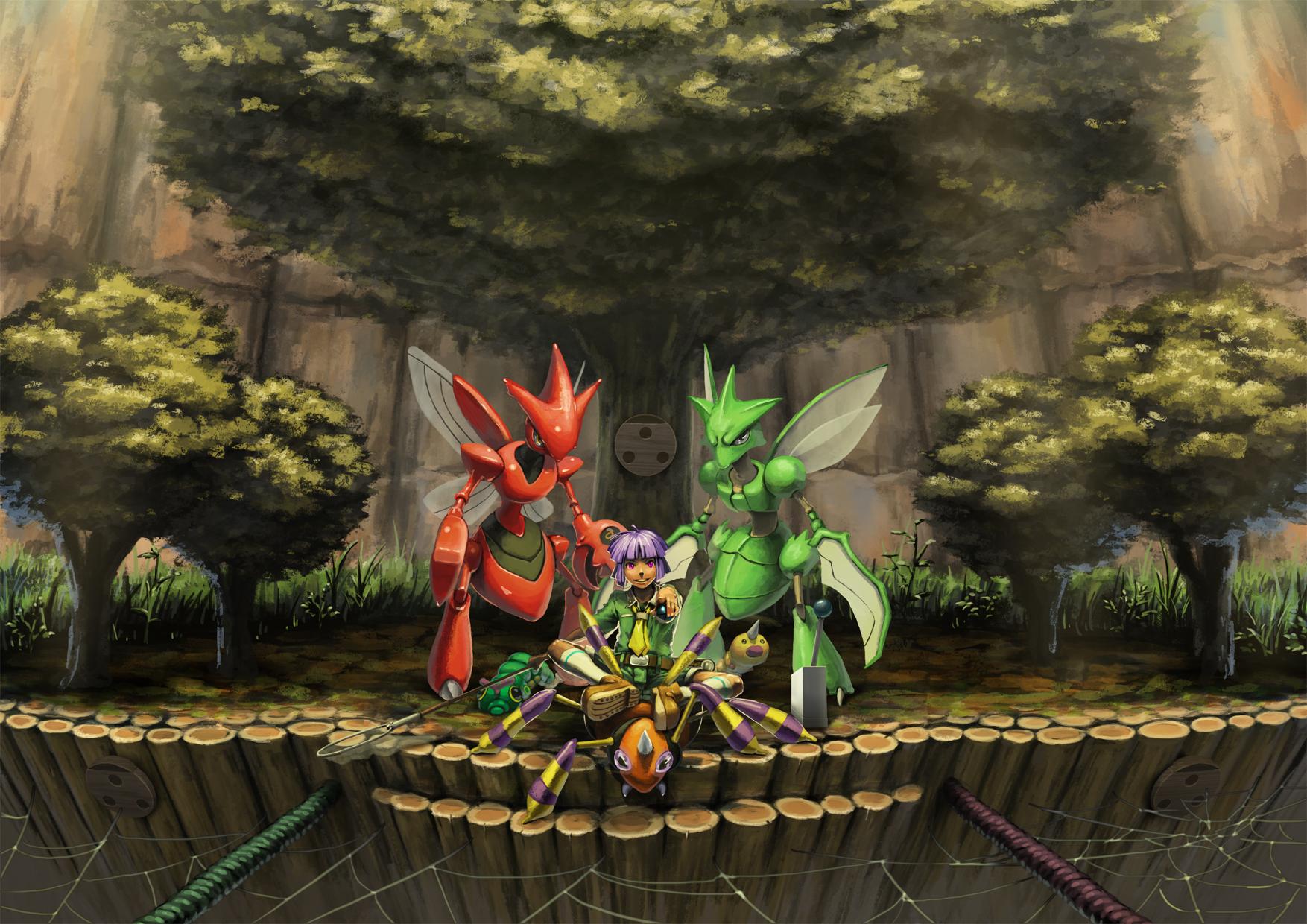 Scyther Pok 233 Mon Zerochan Anime Image Board