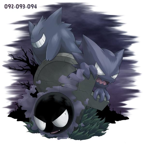 Tags: Anime, Ditb, Pokémon, Gengar, Gastly, Haunter, Pixiv, Fanart