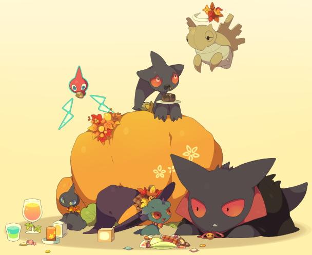 Tags: Anime, Kokemomo Sayakusa, Pokémon, Gengar, Rotom, Misdreavus, Shuppet, Banette, Shedinja, Pixiv, Fanart