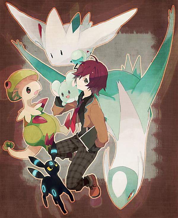 Tags: Anime, Akira Hou, Pokémon Black & White, Pokémon, Umbreon, Breloom, Fan Character, Latios, Touya (Pokémon), Marill, Togekiss, Legendary Pokémon, Shiny Pokémon