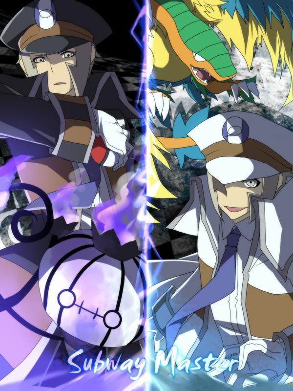 Tags: Anime, Aya (Pixiv263198), Pokémon, Archeops, Chandelure, Nobori, Kudari, Subway Masters