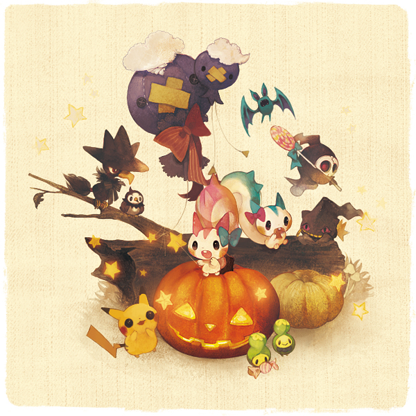 Tags: Anime, Pechika, Pokémon, Starly, Drifloon, Pikachu, Murkrow, Pachirisu, Budew, Drifblim, Duskull, Zubat, Dusknoir