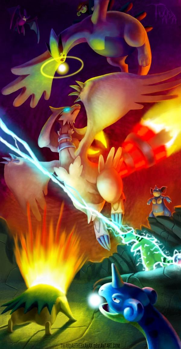 Tags: Anime, Pixiv Id 3937793, Pokémon, Cyndaquil, Reshiram, Ampharos, Lugia, Lapras, Crobat, Nidoqueen, Typhlosion, Legendary Pokémon