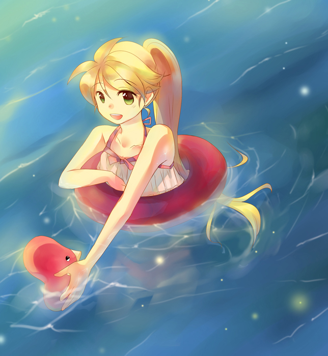 Tags: Anime, Tachiuo, Pokémon SPECIAL, Pokémon, Yellow (Pokémon Special), Luvdisc, Pixiv, Fanart